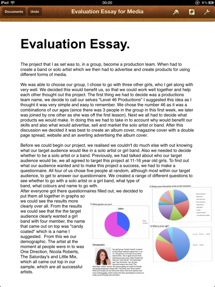 010 Pg Essay Example Incredible Evaluation Book Samples On Movies Self Format 728