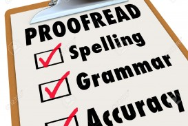 010 Proofread Checklist And Checked Boxes Next To The Words Spelling Grammar Accuracy As Things Stock Photo Essay Unique Proofreading Service Website University