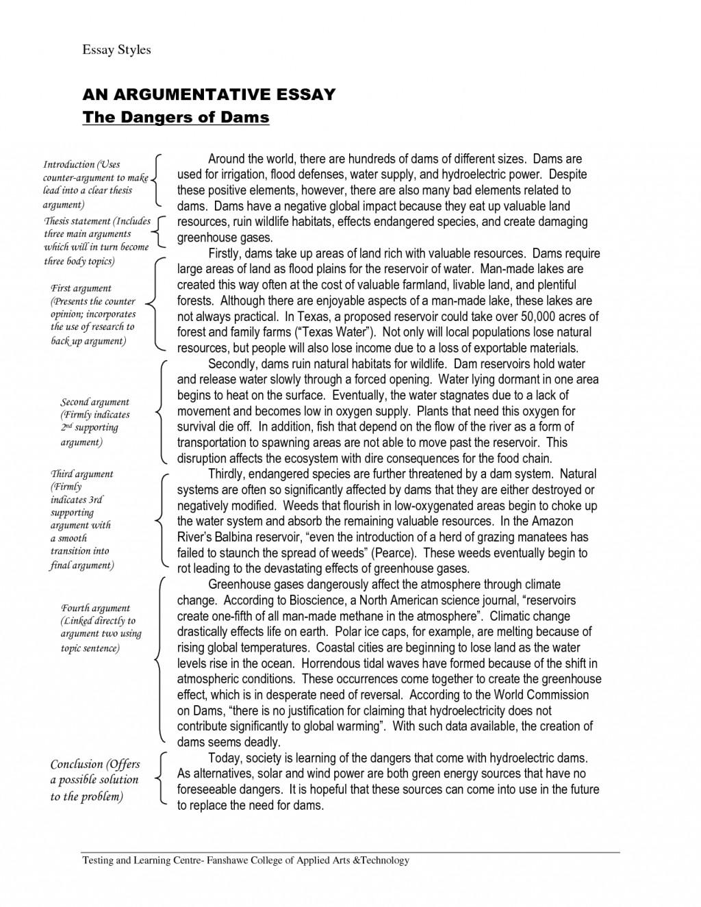 010 Sample Argumentative Essay Example Awful Outline Pdf Mla Format Grade 6 Large