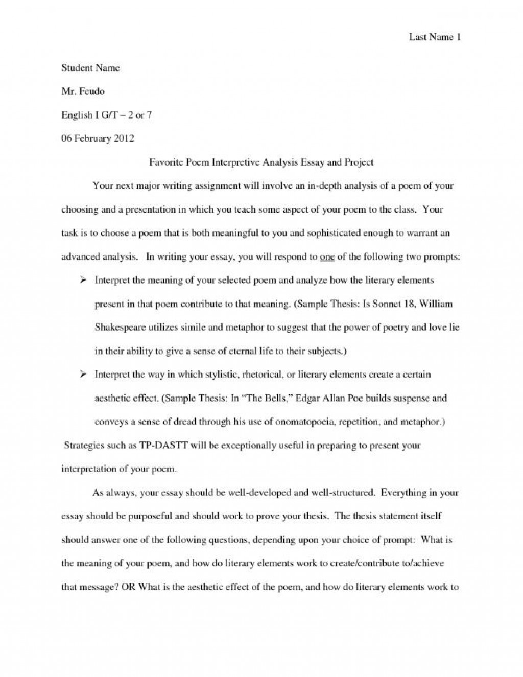 010 Sample Interpretive Essay Example Definition Resume Impressive 5th Grade Large