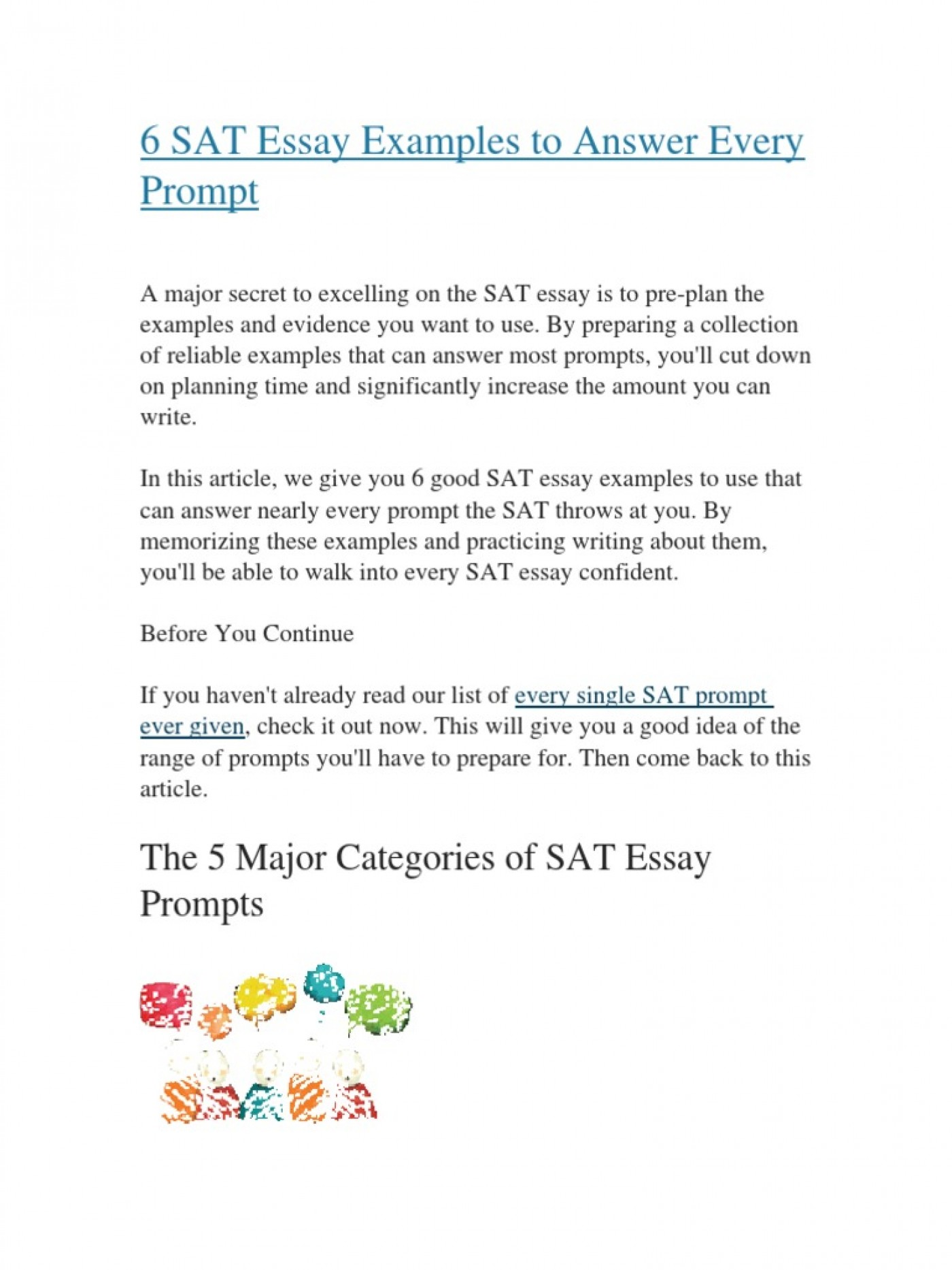 010 Sat Essays To Answer Every Prompt Shooting Of Michael Prompts New Surprising Essay Practice 2016