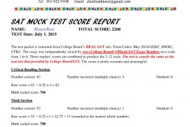 010 Sat Mocktest Score Report Sample Essay Example Fascinating Samples Good 2017 Structure Tips 320