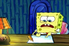 010 Spongebob Squarepants Writing Essay Full Screen Meme Maxresde Episode Surprising Font House 320