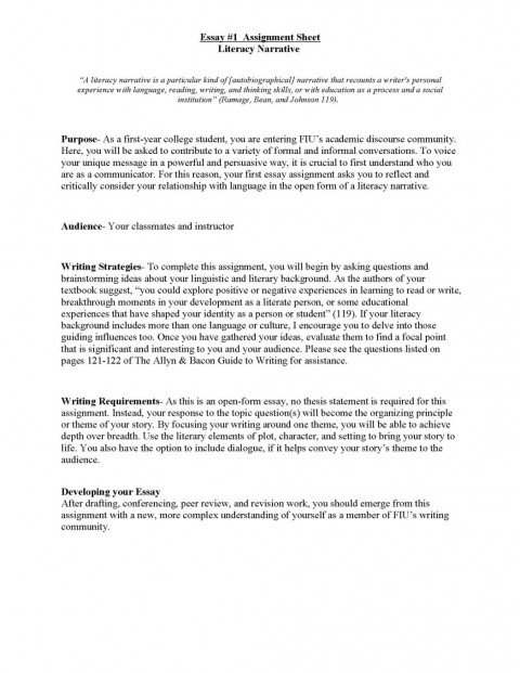 010 Thesis Statement For Narrative Essayes Of Outline Good Descriptive Topics Literacy Unit Assignment Spring 2012 P Personale 1048x1356 Staggering Essay The A Should Be Created During Generator Example 480