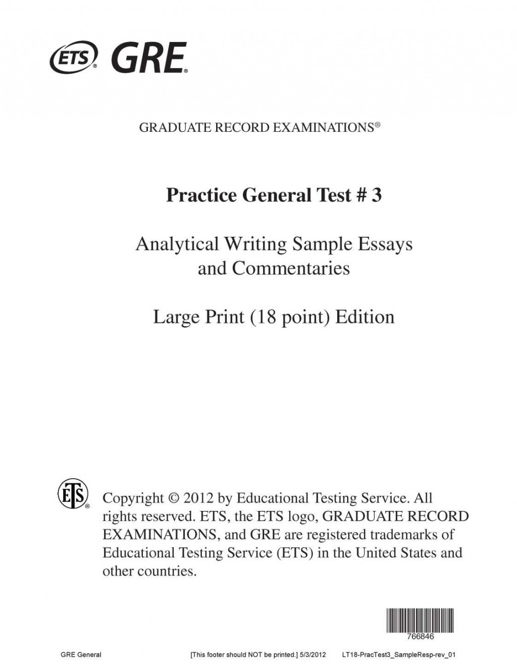 010 Toefl Sample Essay Culture Essays Gre Pool Analytical Writ Awa With Answers Issue Book Pdf Prompts Practice Questions Formidable Example Large