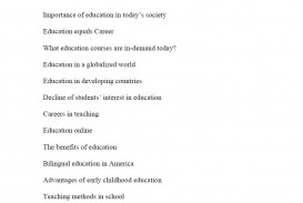 010 Topic Suggestions For Essays On Education Essay Topics Archaicawful High School English Schoolers Grade 8 320