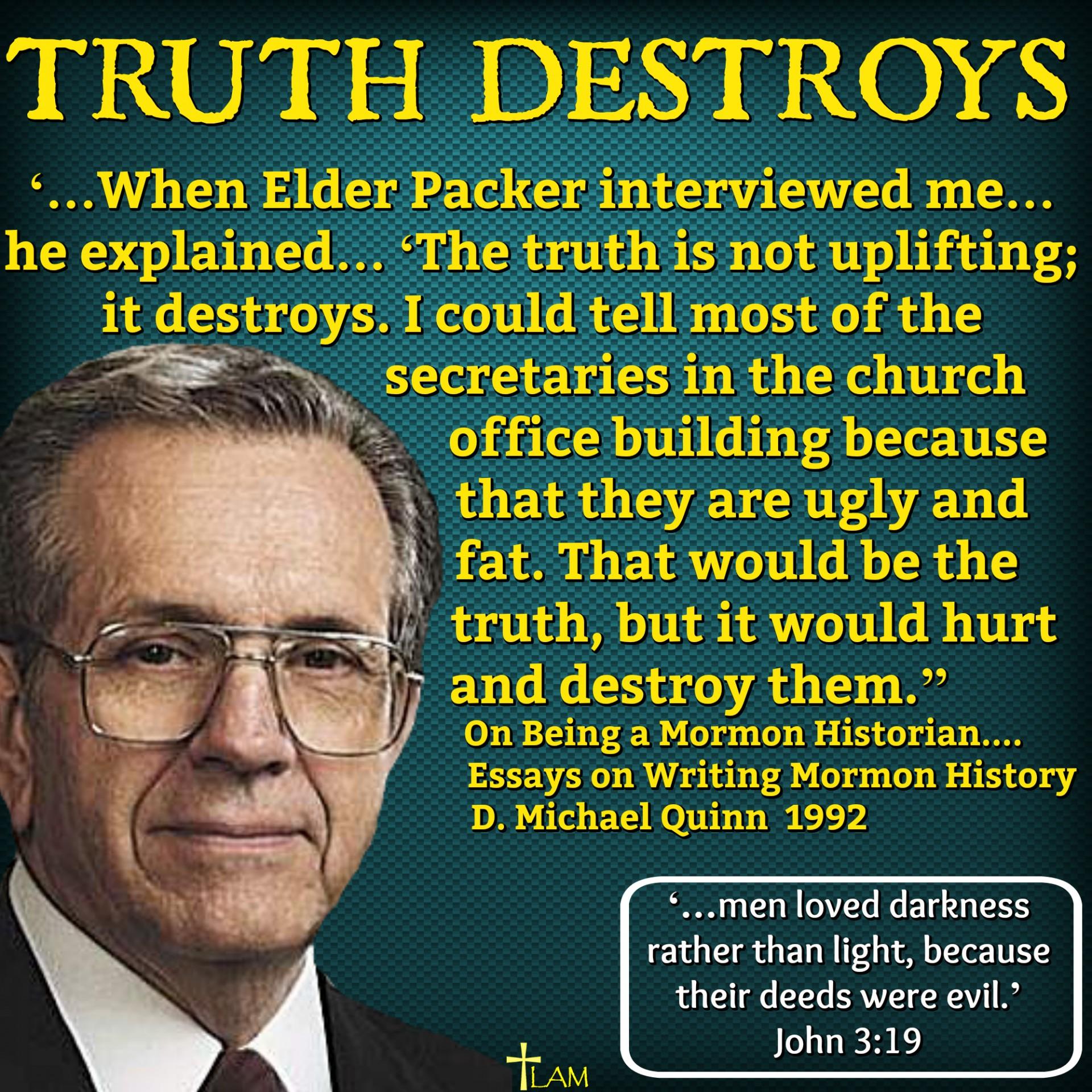 010 Truth Destroys Lds Essays Essay Unbelievable Seer Stone Mother In Heaven Joseph Smith 1920