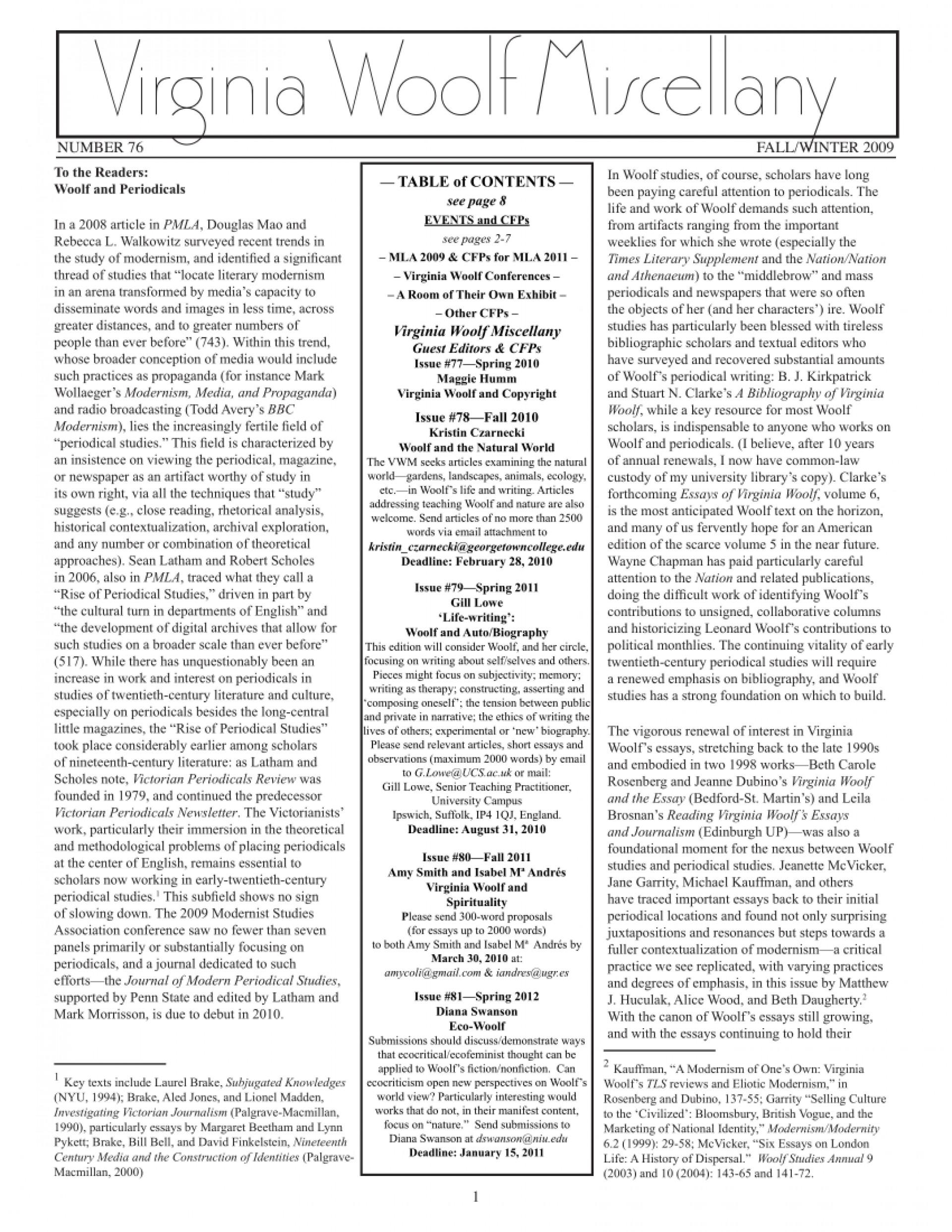 010 Virginia Woolf Essays Essay Example Unusual Online The Modern Analysis On Self 1920