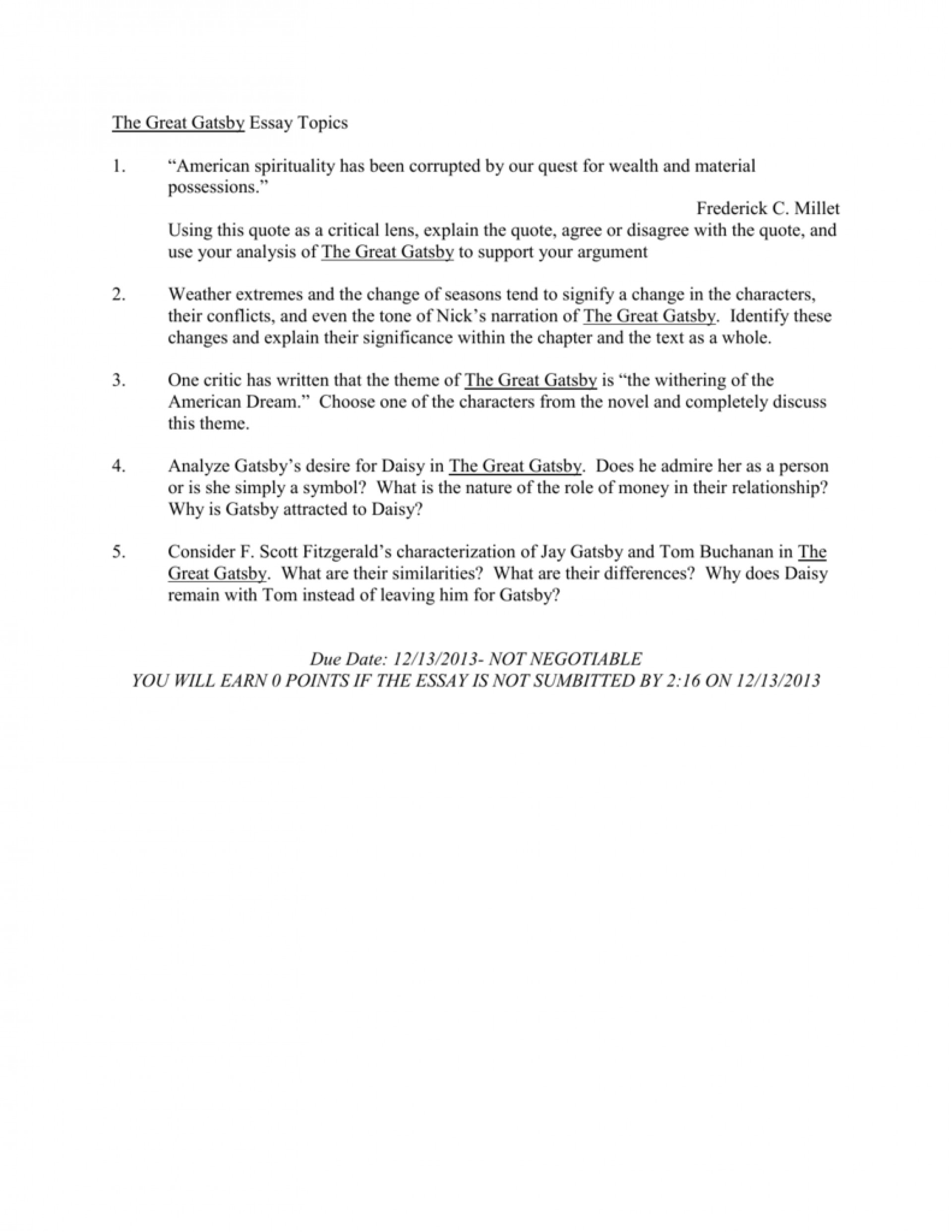 011 008063359 1 Essay Example The Great Gatsby Exceptional Topics Literary Question Chapter 1920