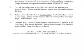 011 008063359 1 Essay Example The Great Gatsby Exceptional Topics Literary Question Chapter