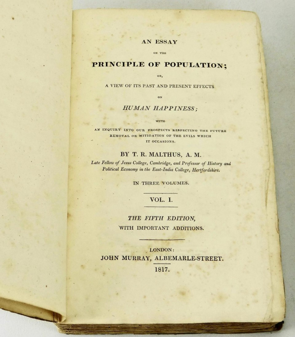 011 13726403944 5 Essay On The Principle Of Population Singular Malthus Sparknotes Thomas Main Idea 960