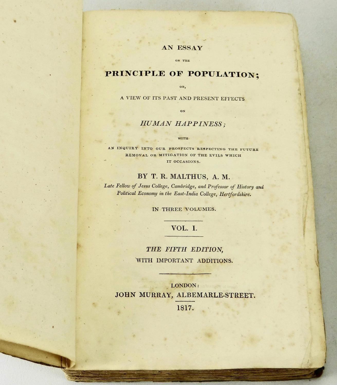 011 13726403944 5 Essay On The Principle Of Population Singular Pdf By Thomas Malthus Main Idea Full
