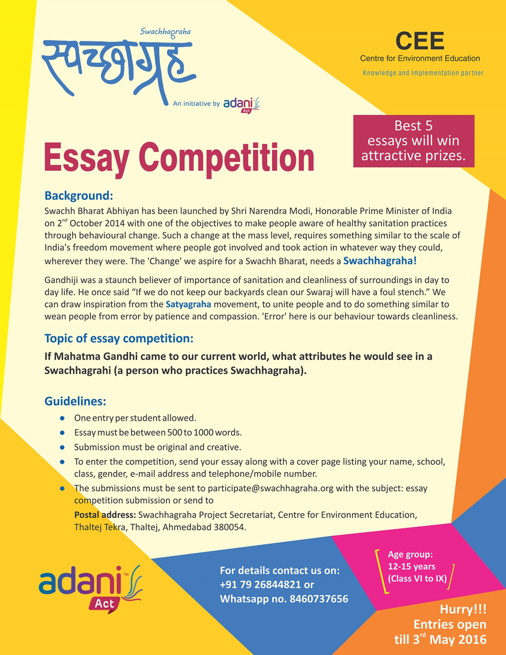 011 20180129171946essay20competition Essay About Cleanliness In School Phenomenal Writing On Premises 1920