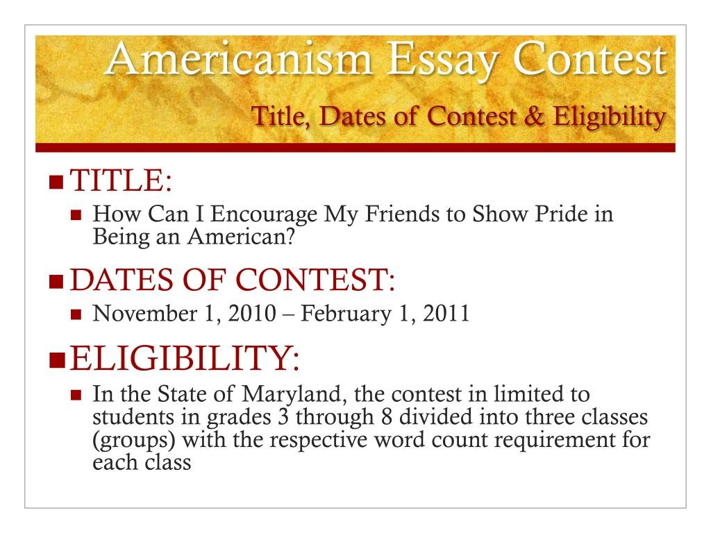011 Americanism Essay Contest Title Dates Of Eligibility L Astounding Amvets 2017 For Grades 7–12 Education Leaders Large