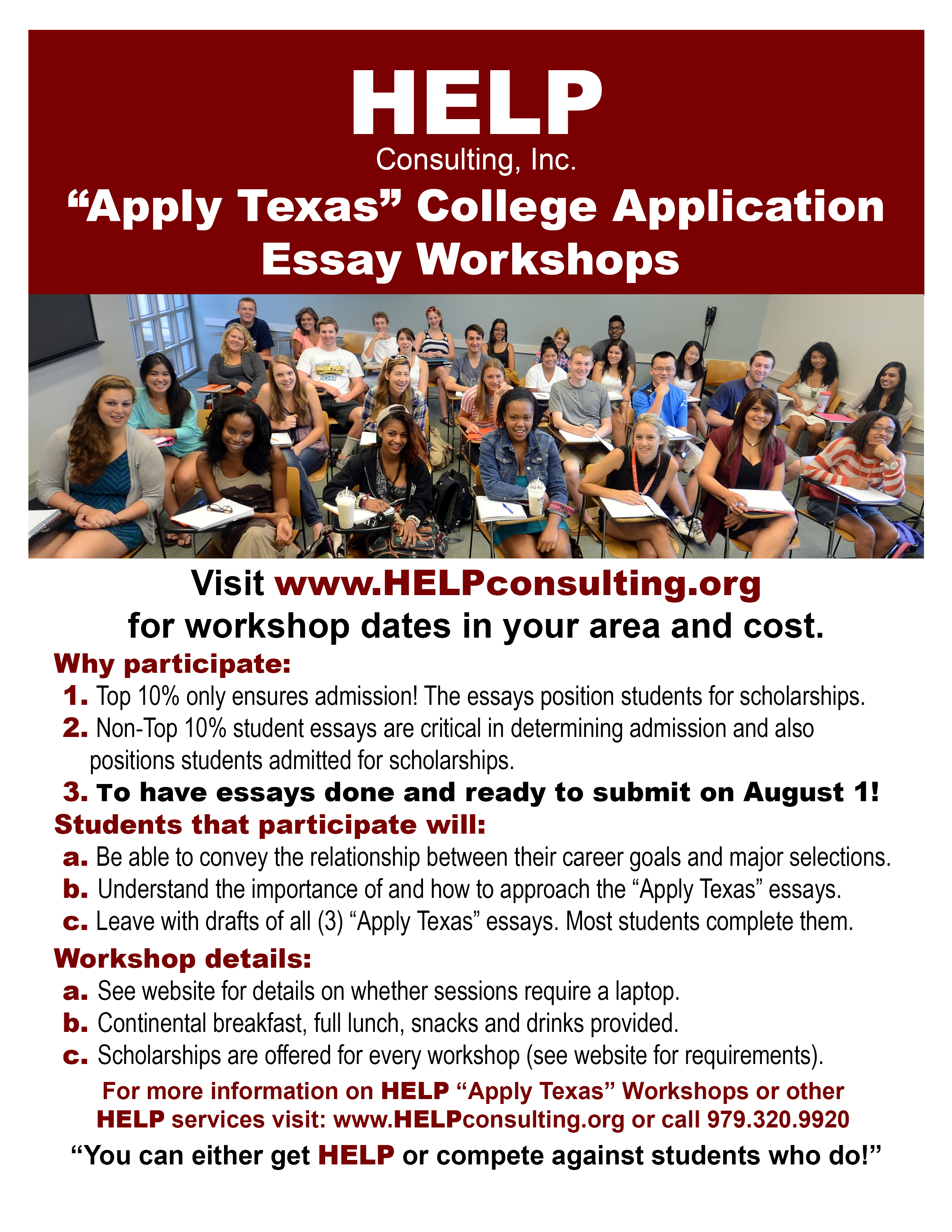 011 Apply Texas Essay Prompts Example Help Ap Tx Flyer Top Examples A B And C Full
