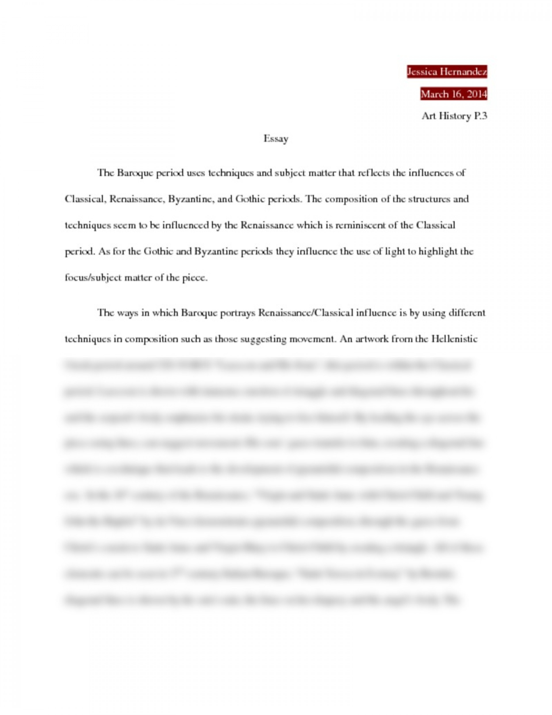 essay example art history introduction to personal topics high    art history essay example marvelous ap writing tips questions   titles