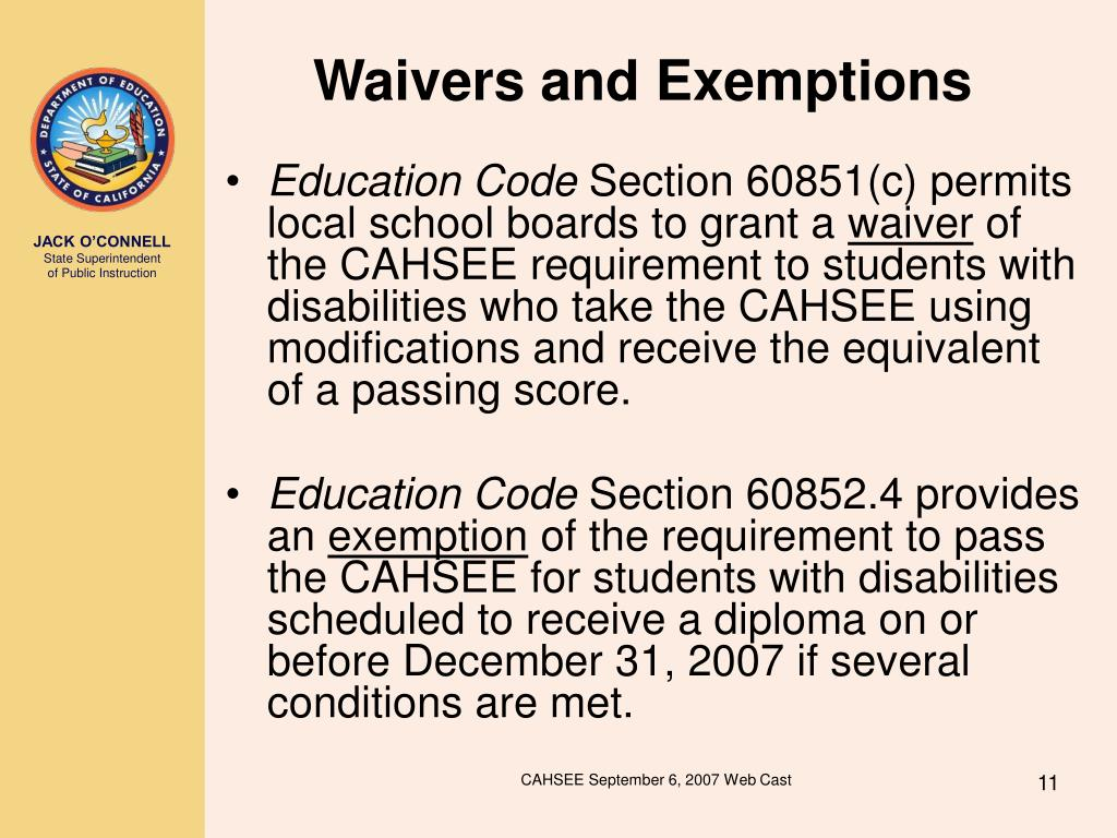 011 cahsee sample essay prompts waivers and exemptions11 l thatsnotus