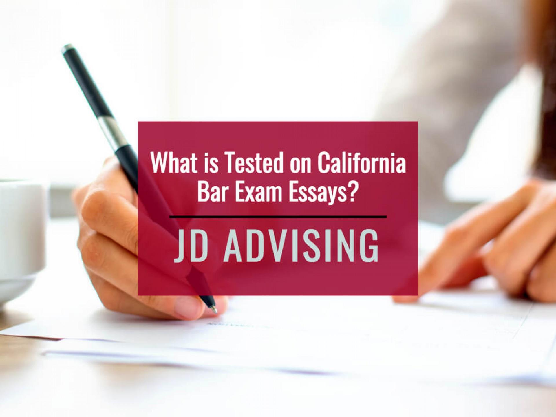 011 California Bar Essays Essayple Marvelous Exam Graded February 2018 How Are 1920