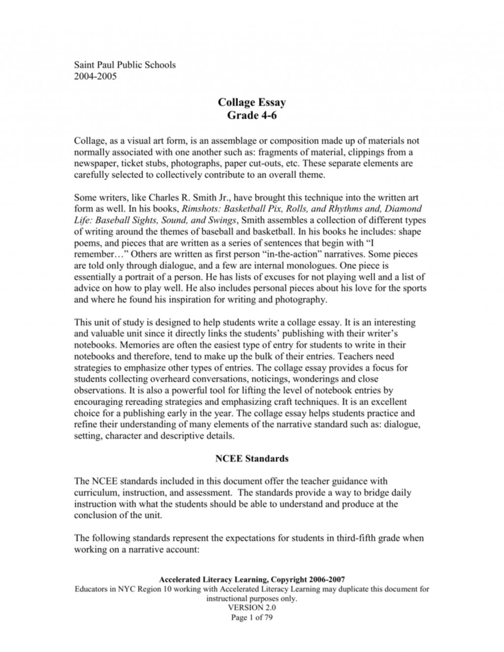 011 Collage Essays 008063715 1 Unbelievable Essay Examples Large