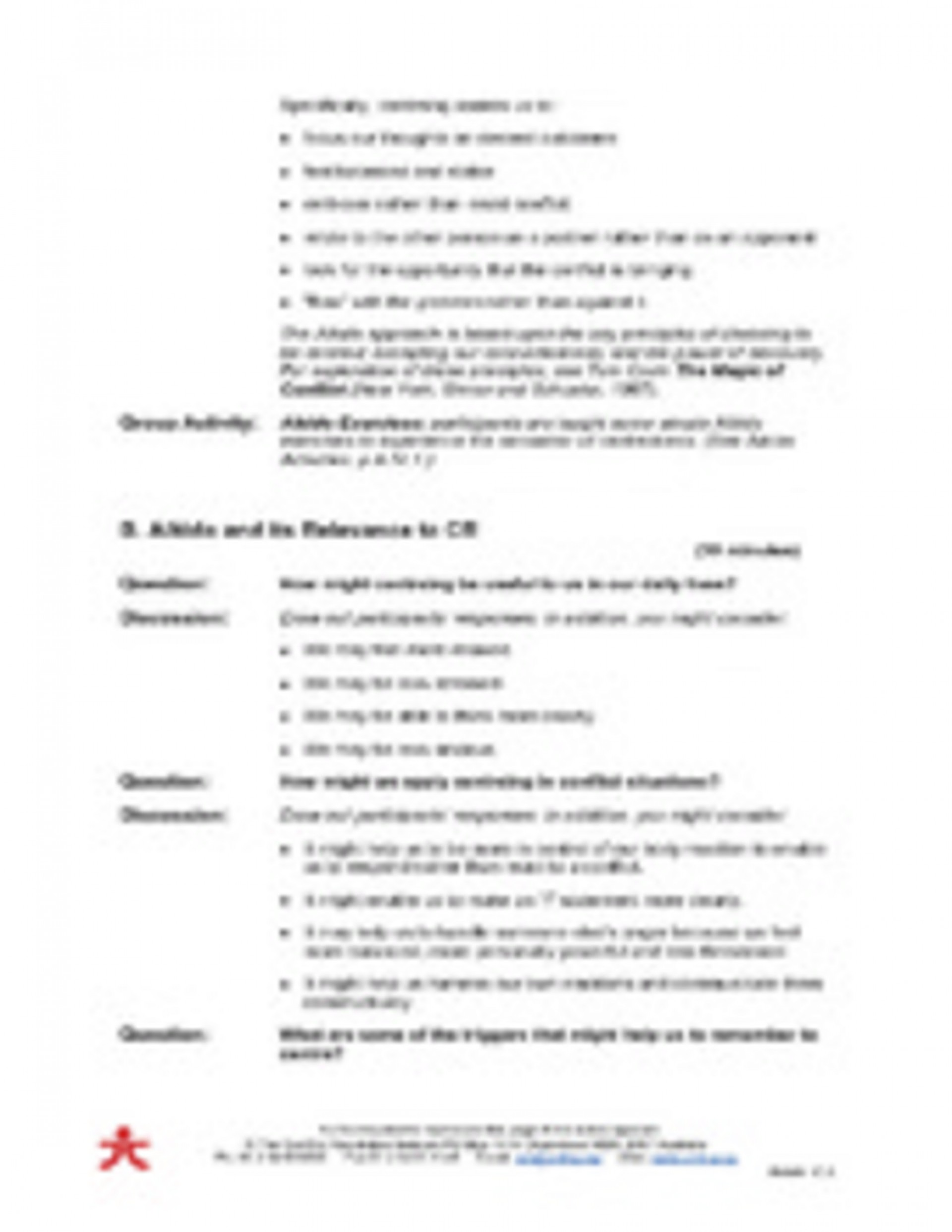 011 Conflict20resolution20class20notes 28058935 Aikido Conflict Resolution Material Part 17page2 Essay Example Formidable Trifles Questions Feminism Topics 1920