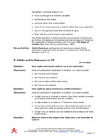 011 Conflict20resolution20class20notes 28058935 Aikido Conflict Resolution Material Part 17page2 Essay Example Formidable Trifles Questions Feminism Topics 360