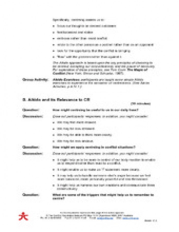 011 Conflict20resolution20class20notes 28058935 Aikido Conflict Resolution Material Part 17page2 Essay Example Formidable Trifles On Gender Roles Pdf Examples 728