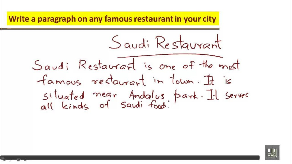 011 Essay About Favorite Restaurant Example Beautiful Your Write An Large