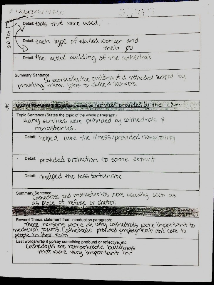 011 Essay Draft Example Excellent College Rough Examples Descriptive 728