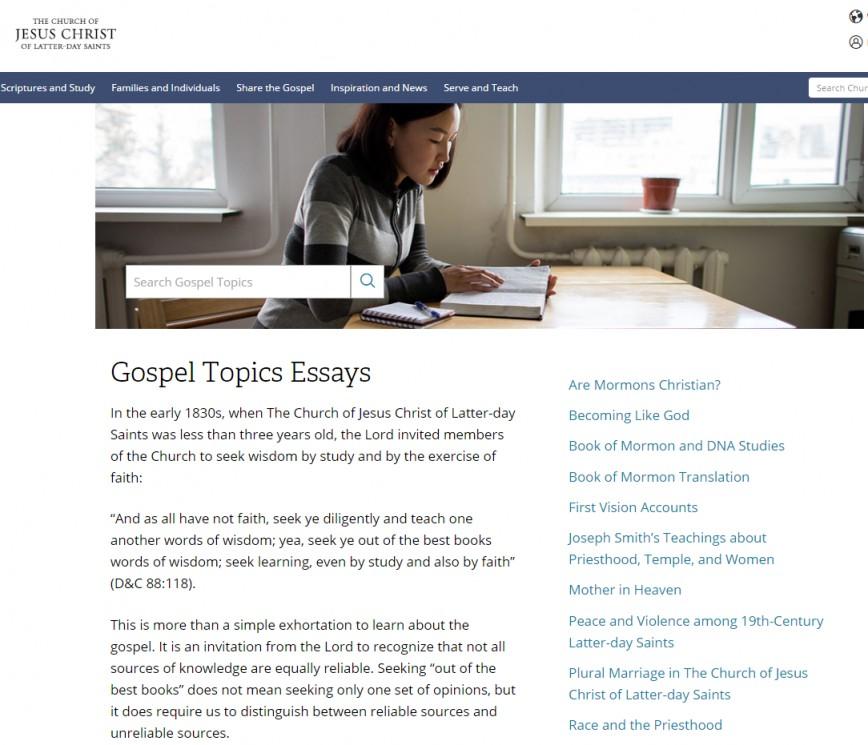 011 Essay Example 23 0556 Lds Gospel Topics Unforgettable Essays