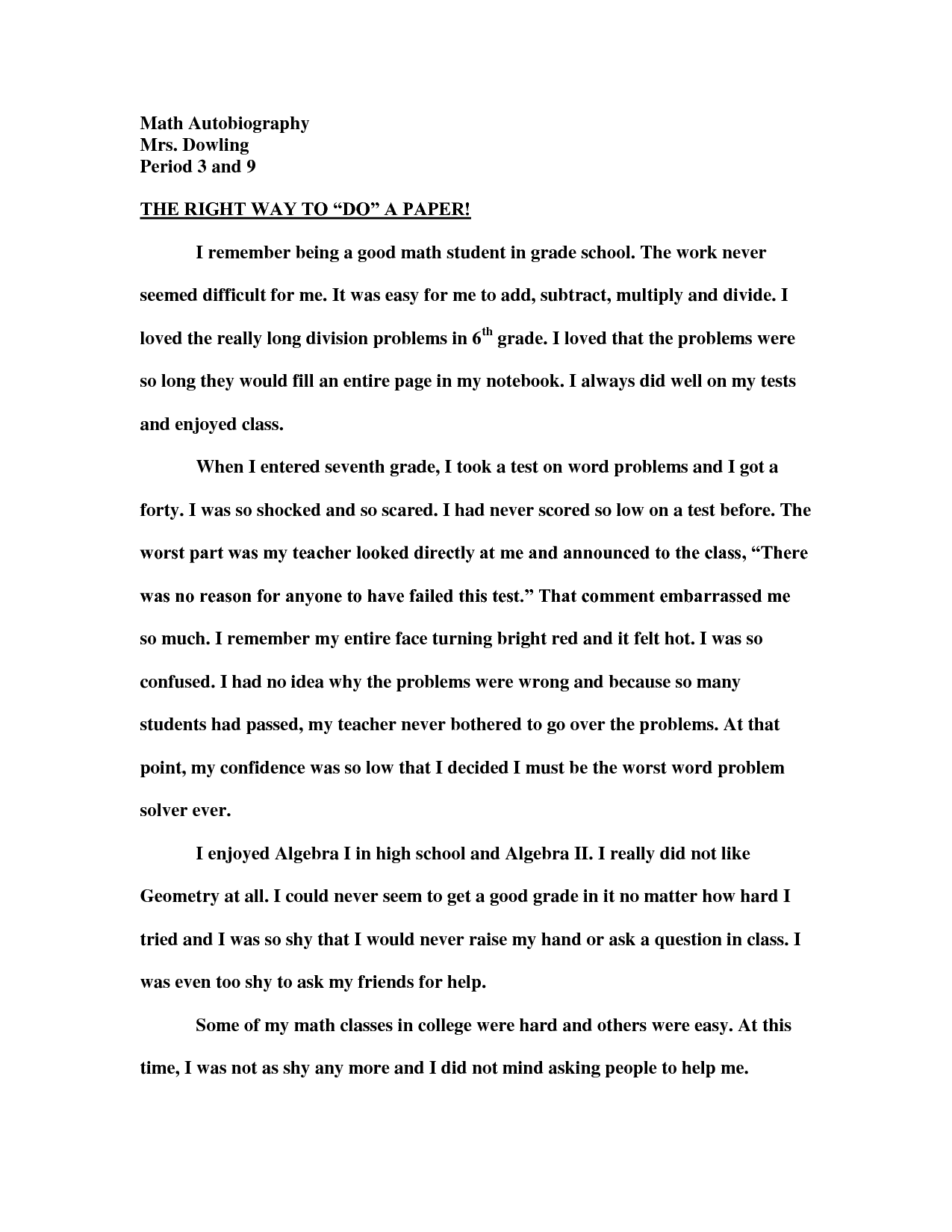 011 Essay Example 6th Grade Examples In Making Autobiography Isipingo Seco Narrative 11th Fantastic Writing Literary Full