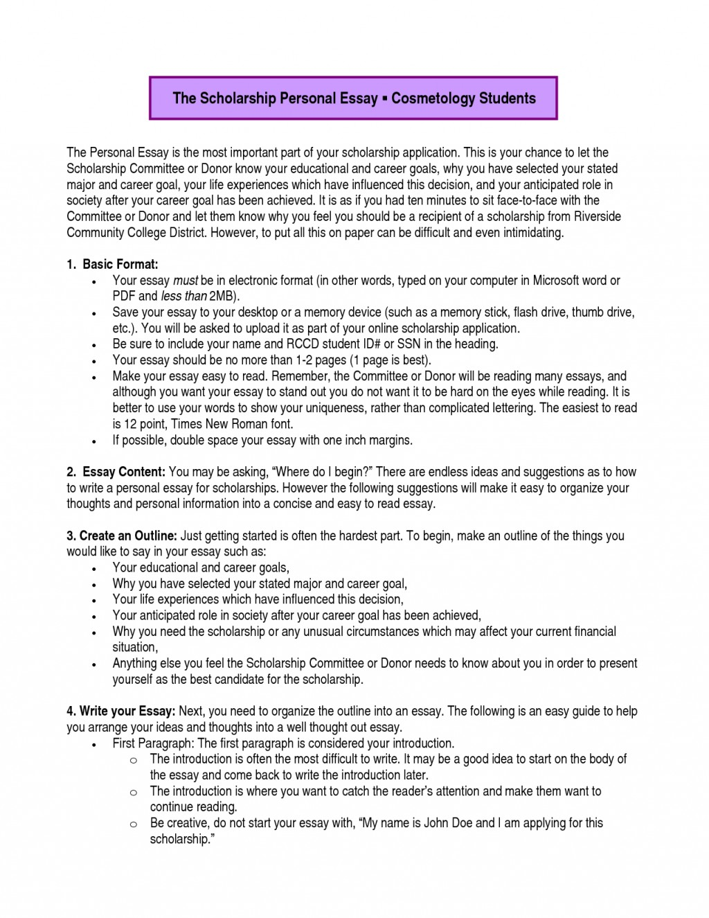 011 Essay Example Academic Goals Dreaded For College Students Scholarship Future High School Large