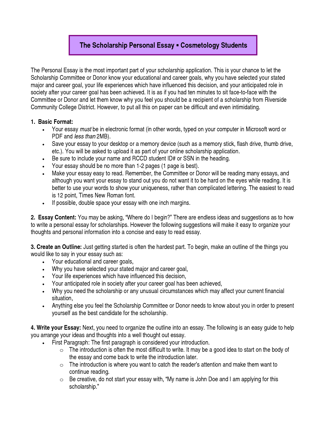 011 Essay Example Academic Goals Dreaded For College Students Scholarship Future High School Full
