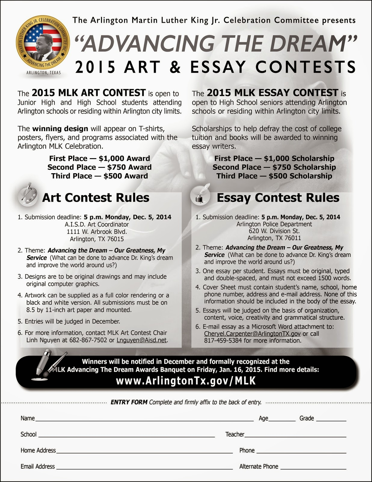 011 Essay Example Art2band2bessay2bcontest2bflyer2b2015 Best Mlk Ideas Intro Contest Winners 2018 Full
