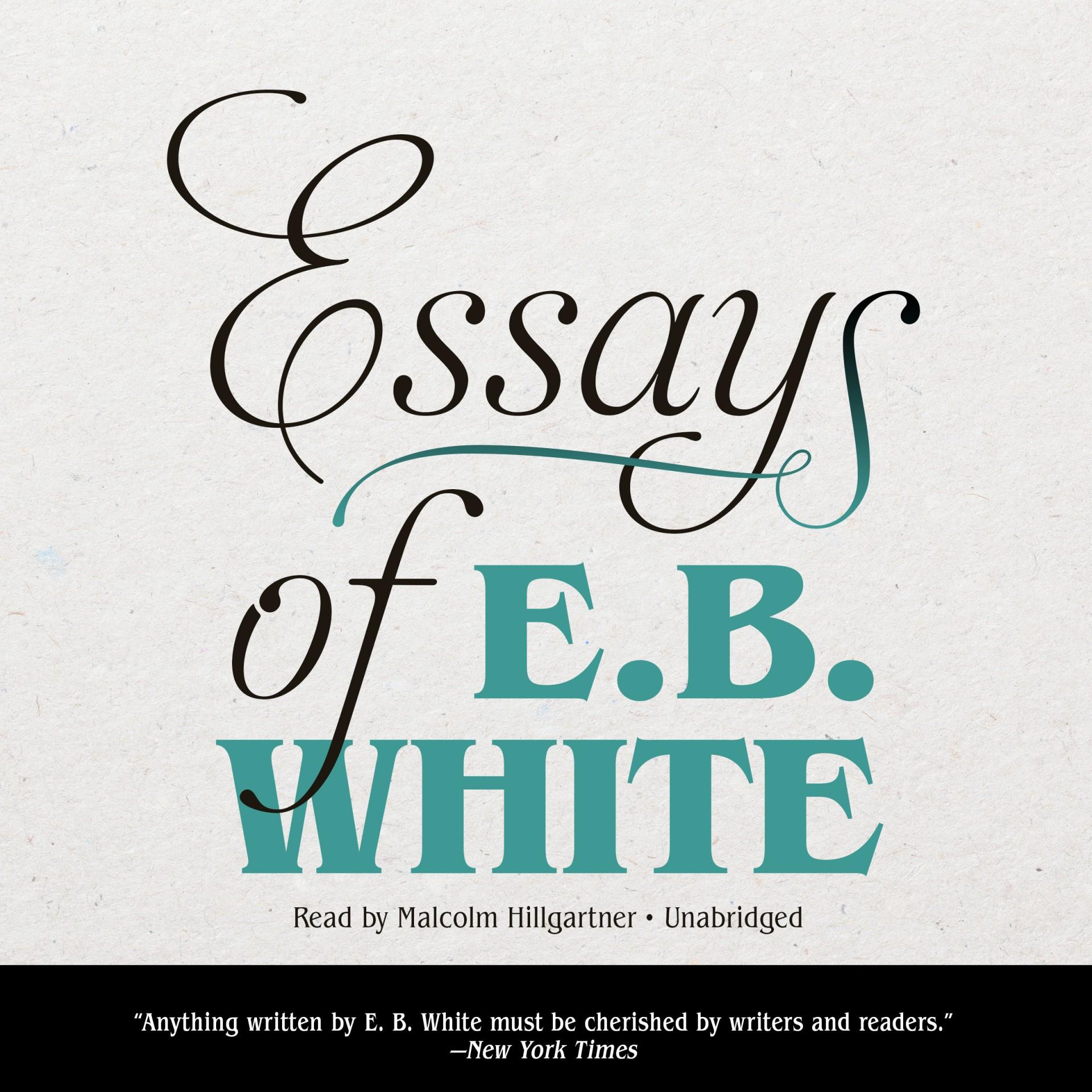 011 Essay Example Bv42 Square Orig Essays Of Impressive Eb White Analysis Audiobook 1920