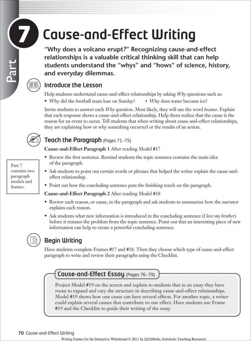 011 Essay Example Causal Argument Topics Imposing Topic Ideas