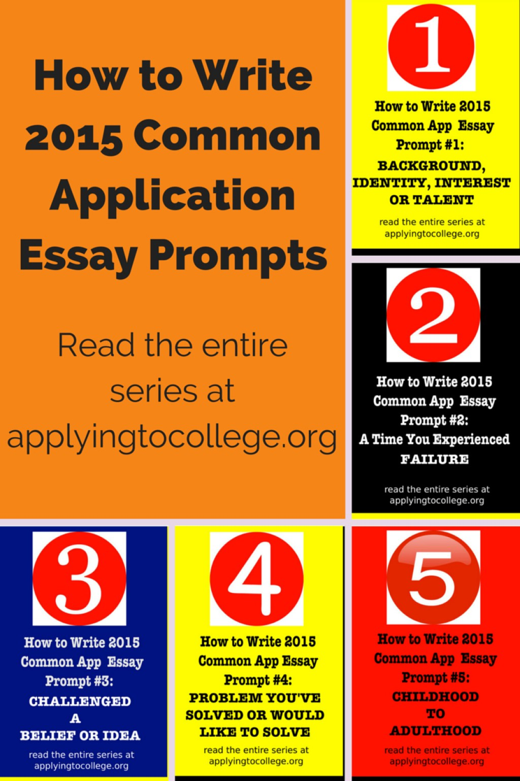 011 Essay Example College Prompts How To Write Common Application Shocking 2015 Admission Large