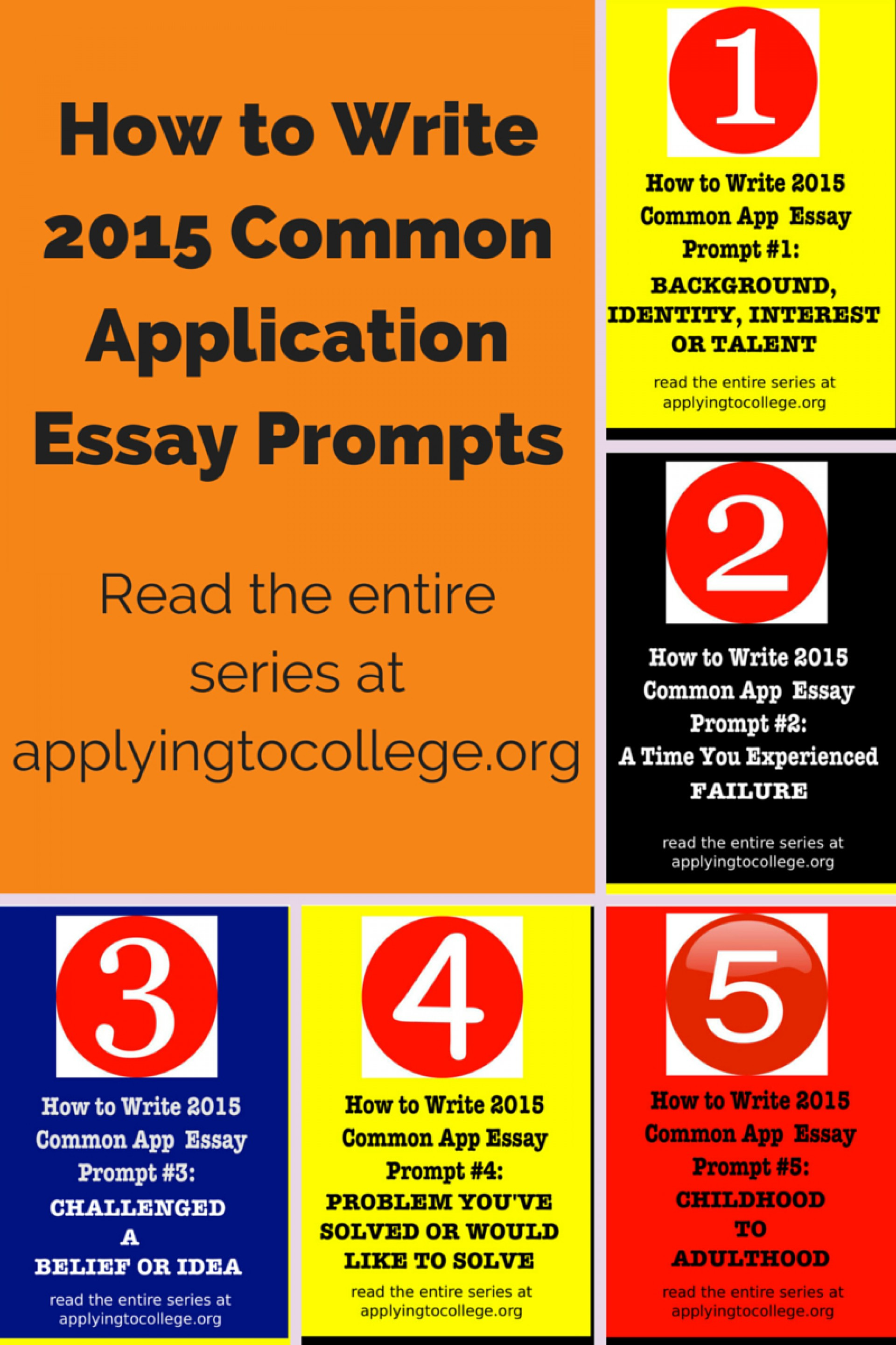 011 Essay Example College Prompts How To Write Common Application Shocking 2015 Admission 1920