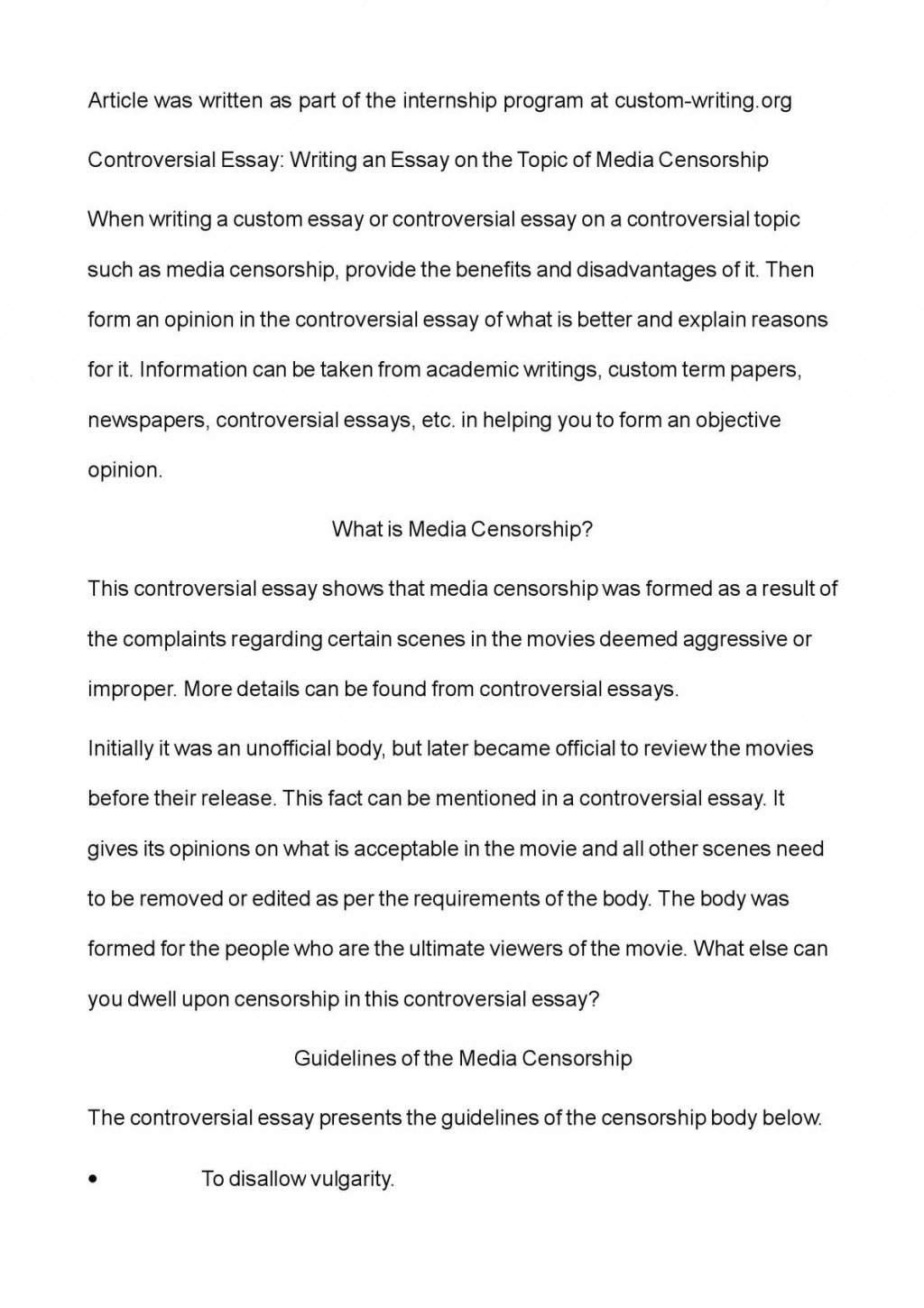 011 Essay Example Controversial Best Topics For High School Students Outline Format On Immigration Large