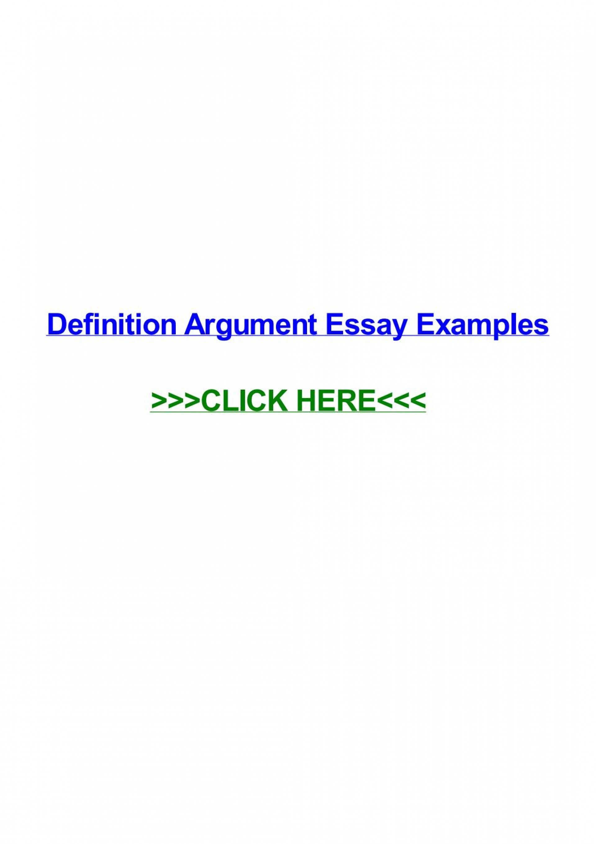 011 Essay Example Definition Argument Examples Page 1 Impressive Definitional Sample 1920