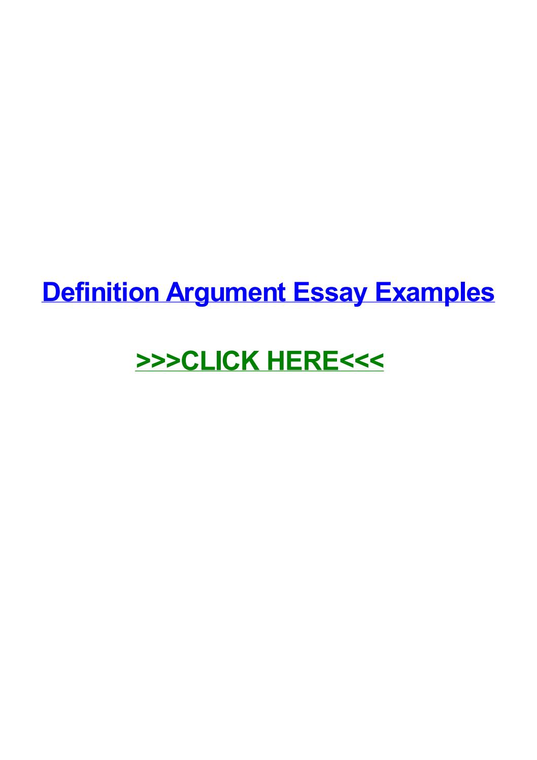 011 Essay Example Definition Argument Examples Page 1 Impressive Definitional Sample Full