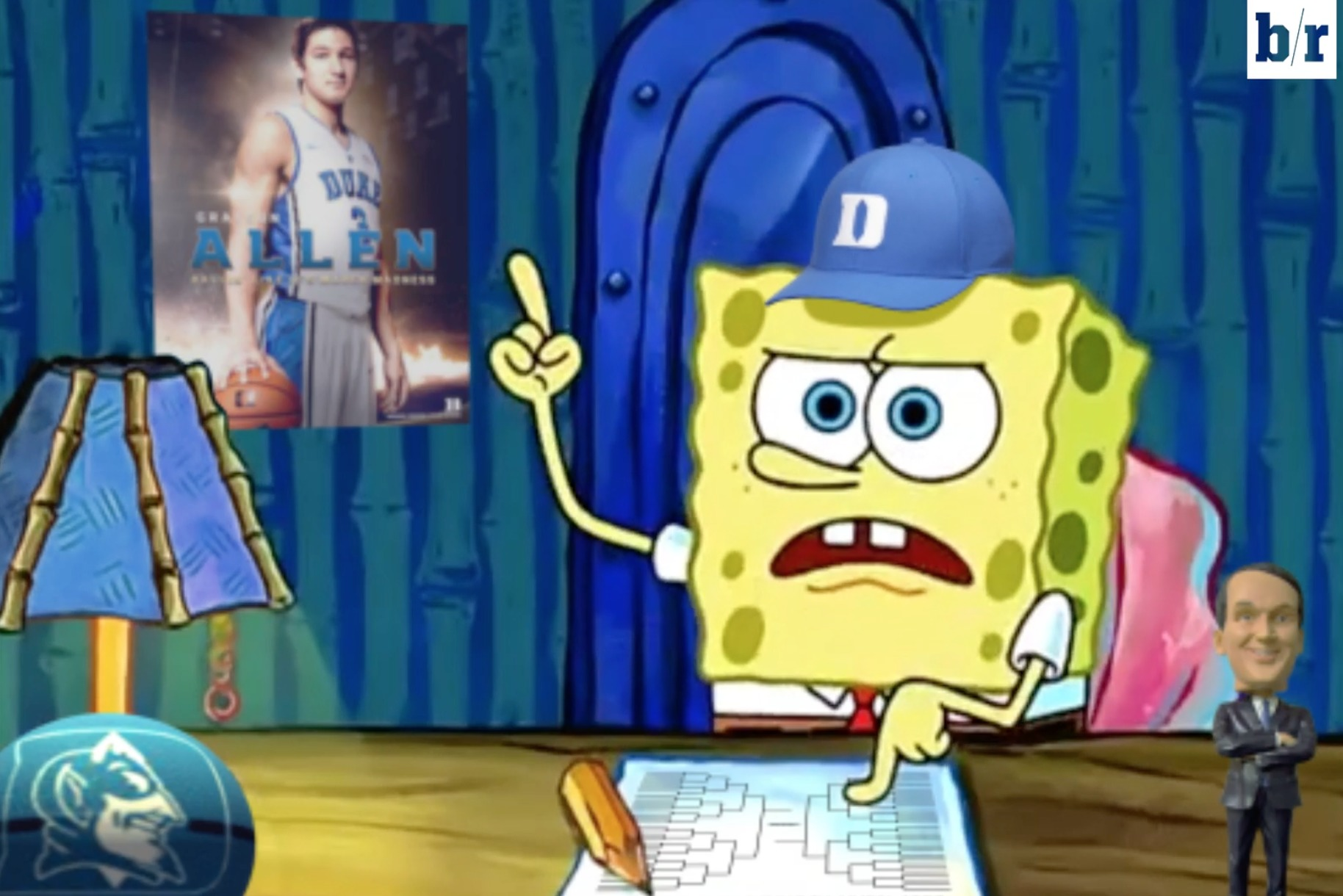 011 Essay Example Duke Fan Spongebob Squarepants Fills Out Ncaa Bracket In Parody Of Writing Gif Crop Exact Screen Shot 2017 For Hours Font Meme Rap Remarkable Full