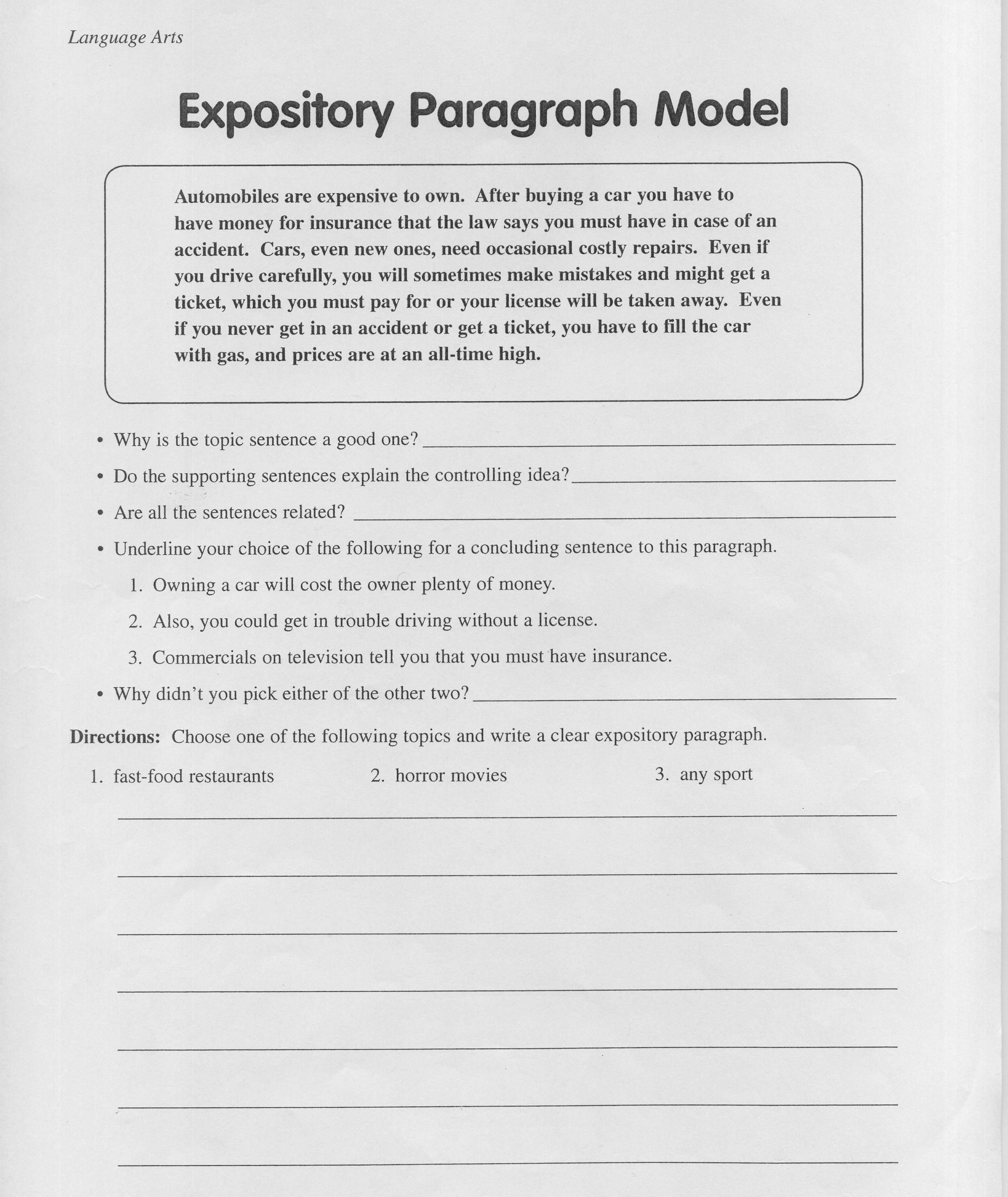 011 Essay Example Expository Awesome Topics For 4th Grade Prompt High School Prompts 7th 1920