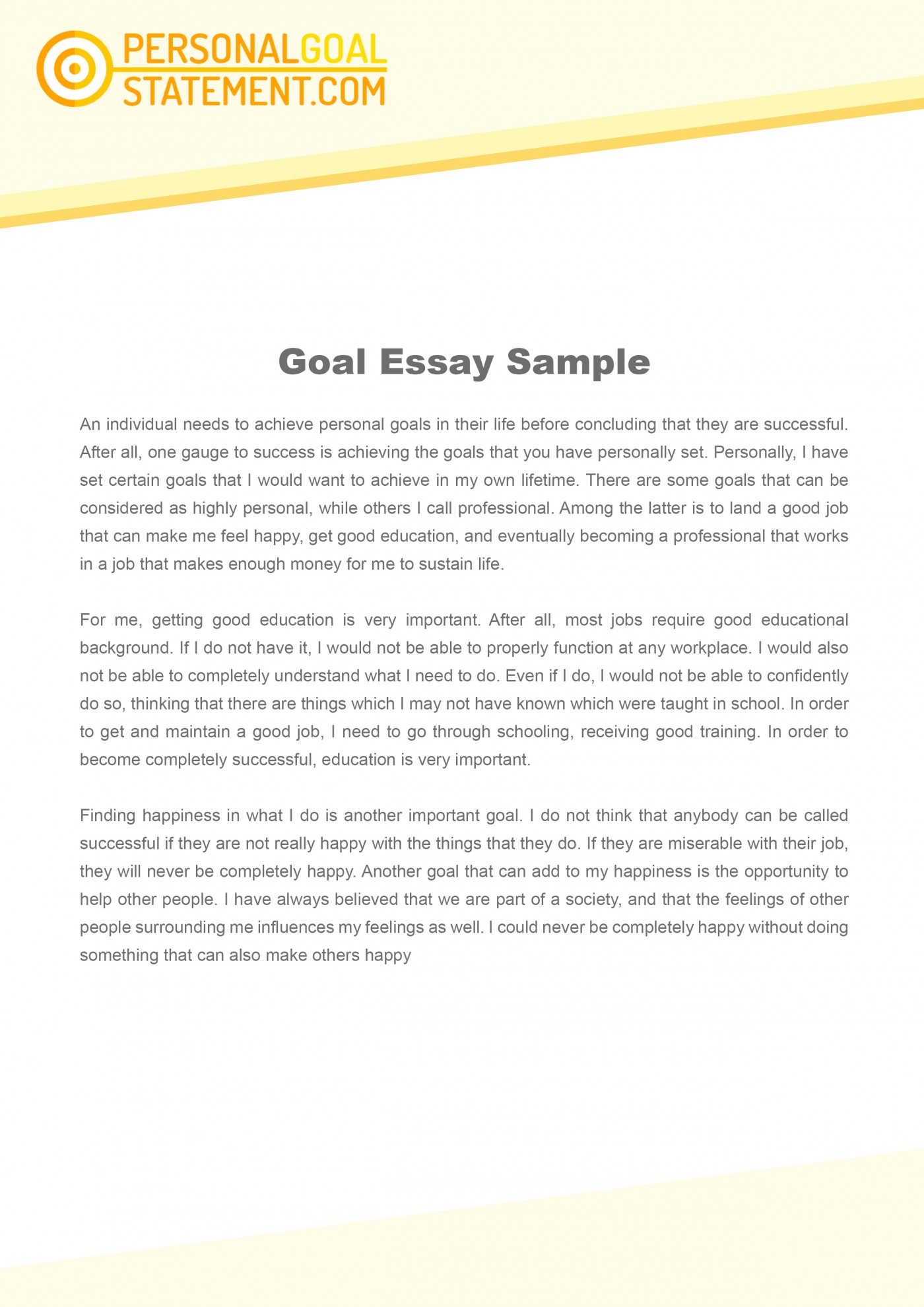 011 Essay Example Goals Career Goal Uniforms Debate Personal Examples L Awesome Mba Consulting Academic For College Sample 1400