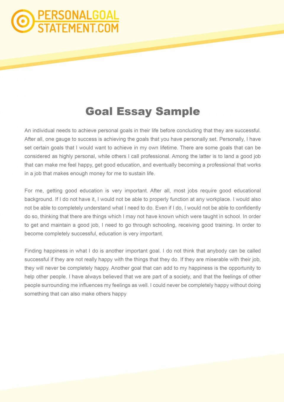 011 Essay Example Goals Career Goal Uniforms Debate Personal Examples L Awesome Mba Consulting Academic For College Sample 960