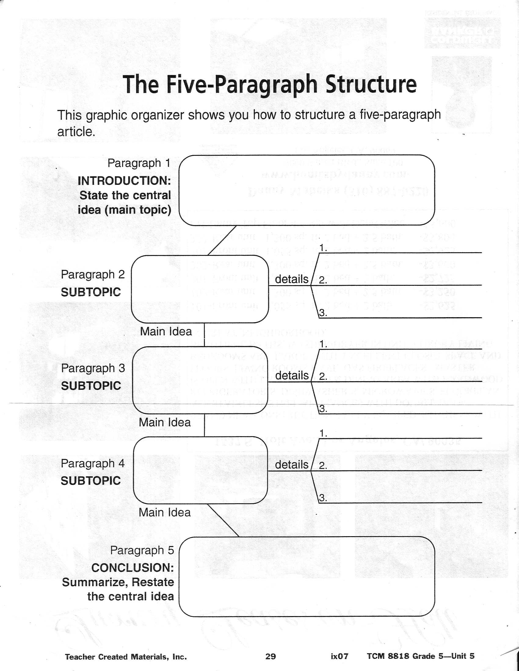 011 Essay Example Graphic Organizers For Writing Essays Organizer 563805 Marvelous 5 Paragraph Best Informative Full