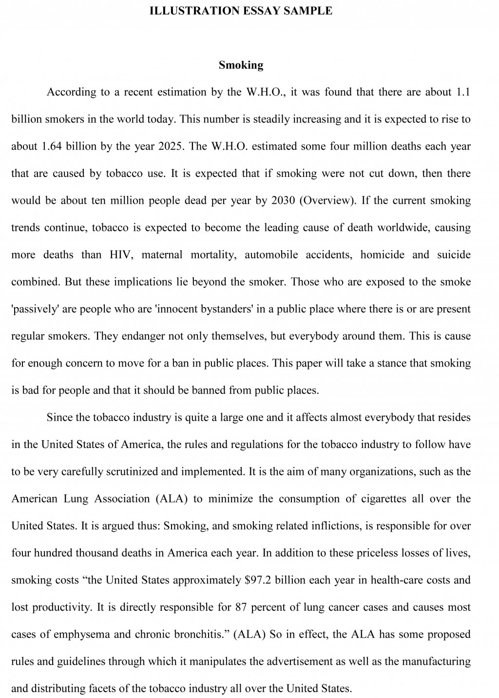 011 Essay Example Informative Introduction Examples Illustration Sample Frightening Paragraph Large