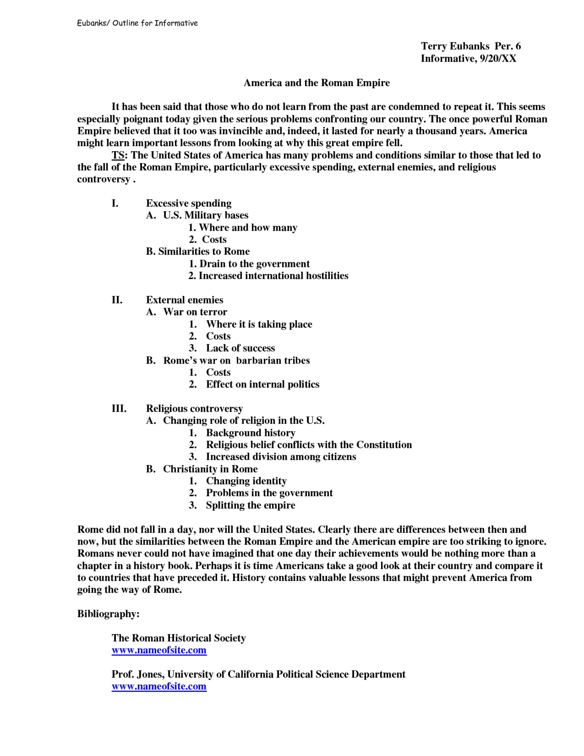 011 Essay Example Informative Speech Outline Template 4tvkvfcf An For Remarkable Should After Creating A Student Brainly The Include 1920