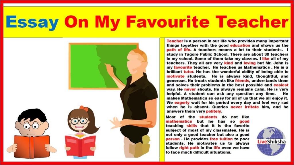 011 Essay Example Maxresdefault On Marvelous Teacher In Hindi Pdf Favorite Kannada Teachers Importance Marathi Large
