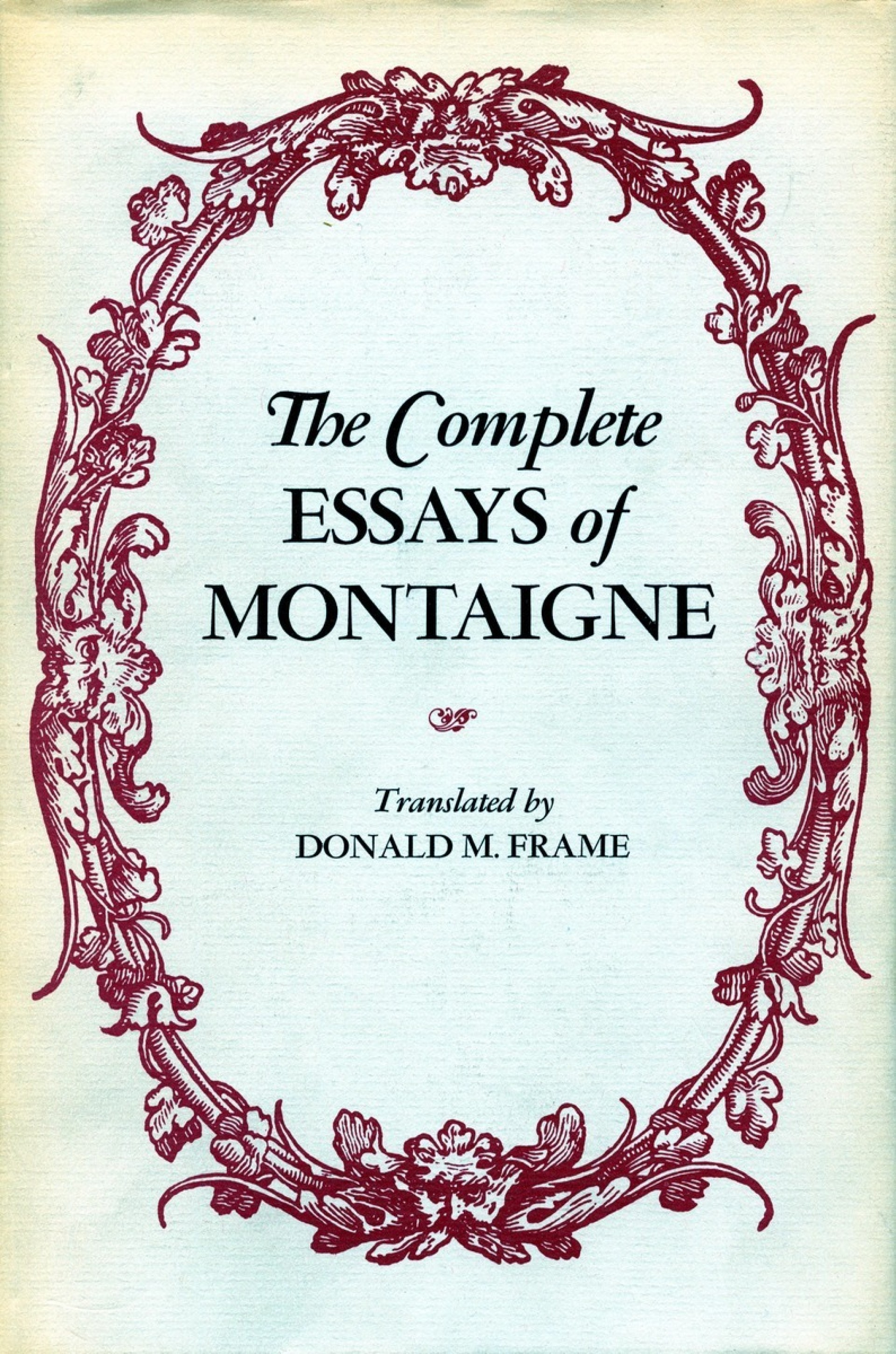 011 Essay Example Montaigne Essays Pid 2932 Archaicawful Summary On Experience Quotes Best Translation 1920