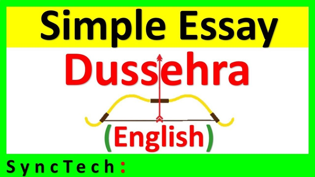 011 Essay Example On Dussehra Festival In English Surprising Large